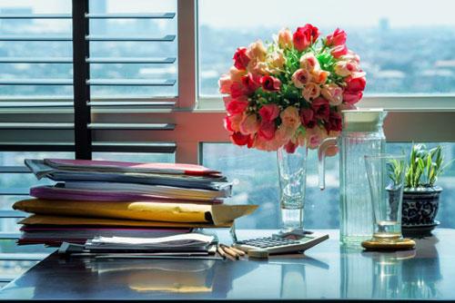 Décoration florale en entreprise