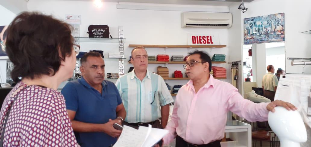 Le président Ibrahim Patel rencontre les commerçants de Centre-ville