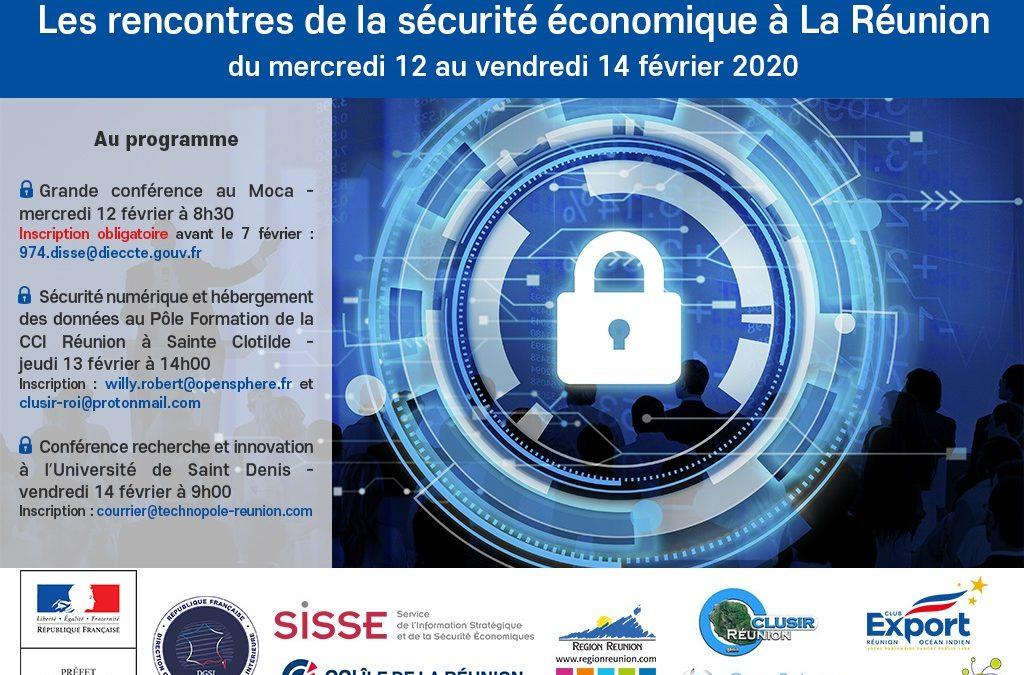Les rencontres de la sécurité économique à la Réunion – du mercredi 12 au vendredi 14 février 2020