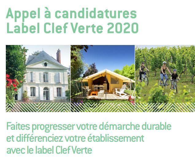 Appel à candidatures Label Clef Verte 2020