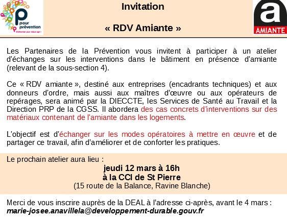 INVITATION ATELIER D'ÉCHANGE SUR LES INTERVENTIONS DANS LE BÂTIMENT