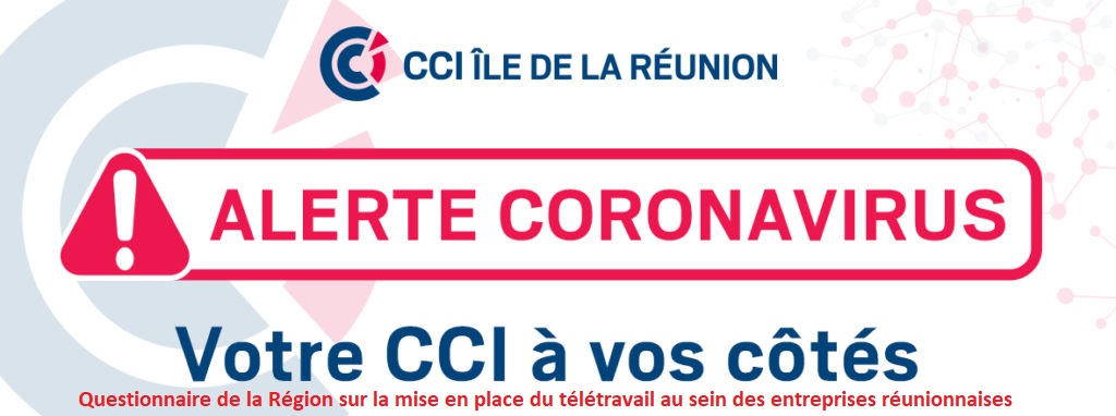 Questionnaire Région – mise en place du télétravail au sein des entreprises réunionnaises