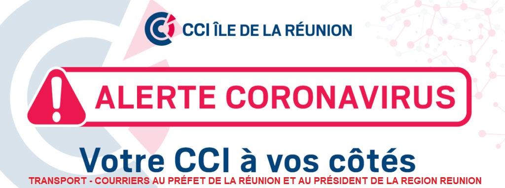 TRANSPORT – COURRIERS AU PRÉFET DE LA RÉUNION ET AU PRÉSIDENT DE LA REGION REUNION