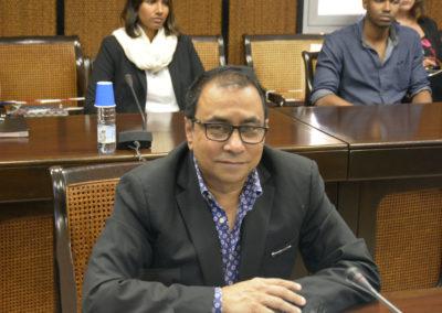 Le président Ibrahim Patel