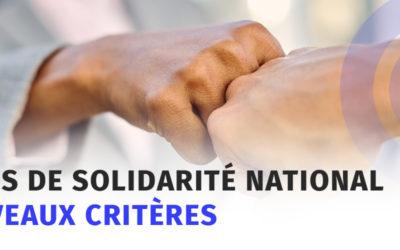 FONDS DE SOLIDARITE NATIONAL : Nouveaux critères