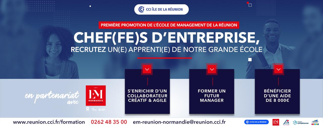 Recrutez un(e) apprenti(e) de la 1ère promotion de l'Ecole de Management de La Réunion